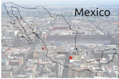 Mexico City map